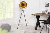 Stehleuchte Studio 140cm schwarz gold/ 36617