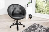 Sessel CoutureLiving 90-100cm schwarz Rollen/ 36932