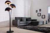Stehleuchte Studio III 170cm schwarz silber/ 37003