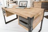 Schreibtisch Factory 135cm Akazie teakgrau/ 36768