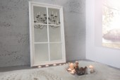 Wandspiegel Window 105cm grau vintage weiss/ 36880
