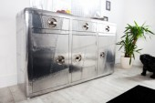 Sideboard Air Craft 145cm silber vintage/ 36956