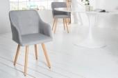 Stuhl Scandinavia Armlehne Struktur hellgrau/ 36822
