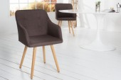 Stuhl Scandinavia Armlehne Struktur braun/ 36825