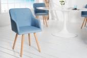 Stuhl Scandinavia Armlehne Struktur hellblau/36826