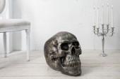 Skulptur Totenkopf Skull 40cm bronze/ 36362