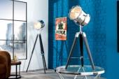 Tischleuchte Tripod 65cm chrom schwarz/ 36841