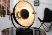 Tischleuchte Studio 40cm schwarz silber/ 37222