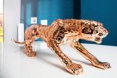 Skulptur Leopard 80cm kupfer/ 37133