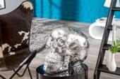 Skulptur Totenkopf Skull 40cm silber/ 37135