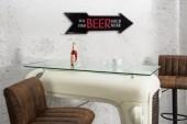 Schild Ice Cold Beer 55cm schwarz rechts/ 37165