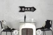 Schild Bar Happy Hours 55cm schwarz rechts/ 37168