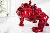 Deko Figur Bulldogge 150cm rot/ 36731