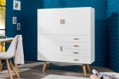 Highboard Scandinavia 140cm weiss/ 37028