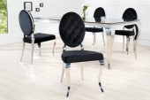Stuhl Modern Barock schwarz / 37354
