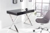 Schreibtisch Grace 100cm schwarz/ 37322