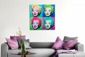 Bild Pop Art Marilyn 60x60cm Glas/ 37405