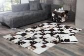 Teppich Rodeo 195cm braun weiss Echtfell/ 37443