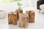 Hocker Wood 40cm aus Teakholz/ 21292