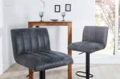 Barhocker Portland 90-110cm vintage grau/ 37564