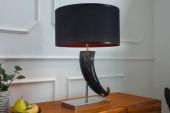 Tischleuchte Eleganz 65cm schwarz/ 37460