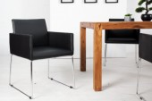 Stuhl Livorno Kunstleder schwarz anthrazit/ 37846