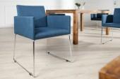 Stuhl Livorno Struktur blau/ 37850