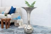 Vase Desert 90cm silber/ 36386