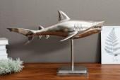 Deko Hai 70cm Standfuß silber/ 37641