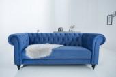 Sofa Chesterfield 200cm Samt blau/ 37829