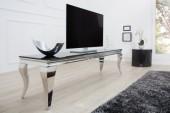 TV Board Modern Barock 160cm schwarz silber/ 37749