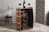 Stehtisch Weinfass Cask 24 Flaschen Mango/ 37373