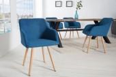 Stuhl Scandinavia Armlehne blau Buche/ 36588
