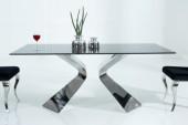 Esstisch Neo Barock 180cm schwarz silber/ 37908