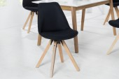 Stuhl Scandinavia Struktur schwarz/ 38124