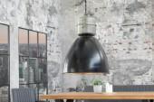 Hängeleuchte Factory L 40cm schwarz silber/ 37485