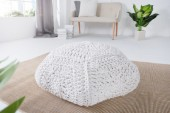 Pouf Cosy IV 70cm weiss aus Strick/ 37752