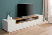 TV Lowboard Empire 180cm weiss Eiche/ 37526