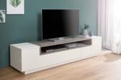 TV Lowboard Empire 180cm weiss Beton/ 37527