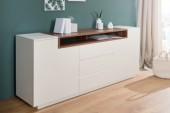 Sideboard Empire 180cm weiss walnuss/ 37530