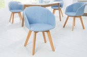 Stuhl Stockholm Arml. Struktur blau/ 38128