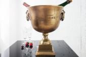 Champagner-Kühler 40cm gold/ 37607