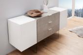 Sideboard Onyx 160cm weiss Beton/ 38139
