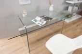 Schreibtisch Onyx 160cm weiss Beton/ 38143