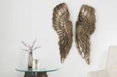 Wanddeko Fallen Angel 65cm antik silber_bronze/ 38437