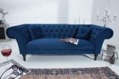 Sofa Contessa 230cm königsblau Samt/ 38217