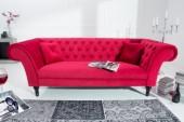 Sofa Contessa 225cm rot Samt/ 38235