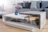 Couchtisch Concept 100cm weiss Beton/ 38149