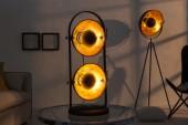 Tischleuchte Studio schwarz gold 2er/ 38363
