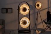 Tischleuchte Studio schwarz silber 2er/ 38406